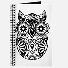 Sugar Skull Owl Journal