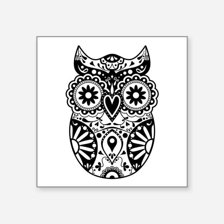 Rose mandala vinyl wall sticker - Sugar Skull Owl Bumper Stickers Car Stickers Decals Amp More