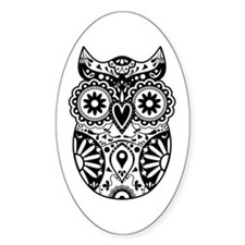 Sugar Skull Owl Decal