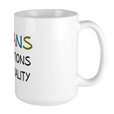 stupid questions - librarian Large Mug