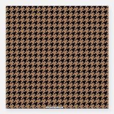 "Houndstooth Khaki Square Car Magnet 3"" x 3"""