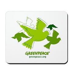 Green doves Mousepad