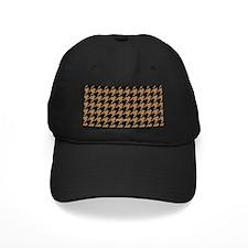 Houndstooth Tan Khaki Baseball Hat