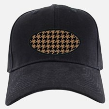 Houndstooth Tan Khaki Baseball Hat