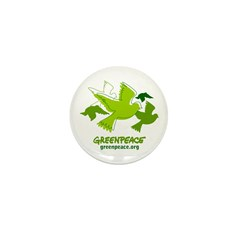 Green doves Mini Button (10 pack)
