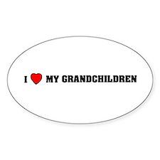 I love my grandchildren Oval Bumper Stickers