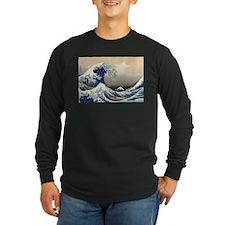 Tsunami_by_hokusai_19th_century Long Sleeve T-Shir