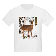 Whitetail Deer In Winter Kids T-Shirt