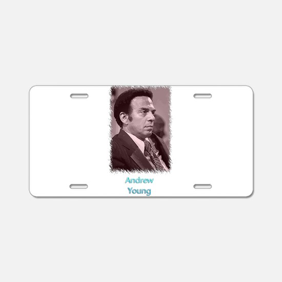 Andrew Young w text Aluminum License Plate