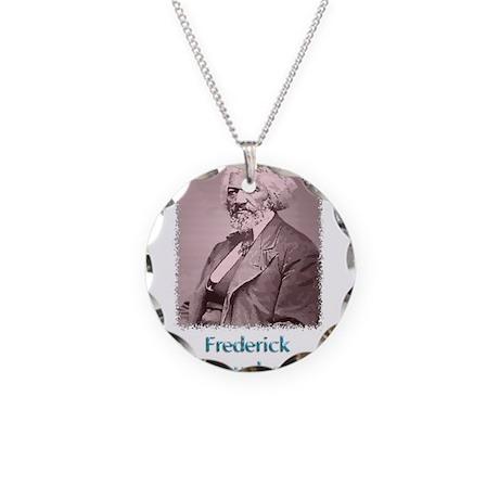 Frederick Douglass w text Necklace