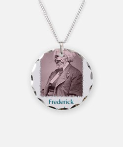 Frederick Douglass w text Necklace