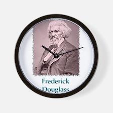 Frederick Douglass w text Wall Clock