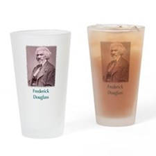 Frederick Douglass w text Drinking Glass