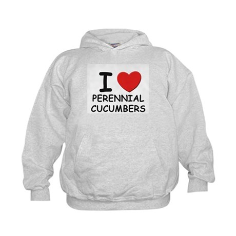 I love perennial cucumbers Kids Hoodie
