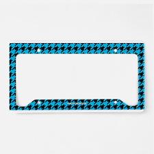 Houndstooth Blue License Plate Holder