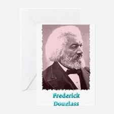 Frederick Douglass 2 w text Greeting Cards (Pk of