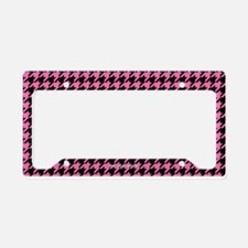 Houndstooth Pink License Plate Holder
