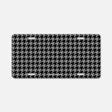 Houndstooth Aluminum License Plate