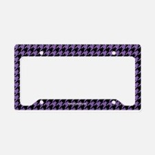 Houndstooth Purple License Plate Holder