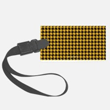 Houndstooth Yellow Luggage Tag