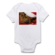 Rhodesian Ridgeback Santa Puppy Infant Bodysuit