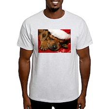 Rhodesian Ridgeback Santa Puppy Ash Grey T-Shirt