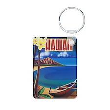 Vibrant Blue Vintage Hawai Keychains
