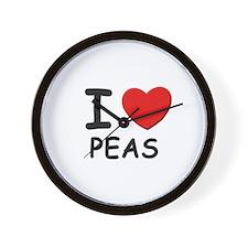 I love peas Wall Clock