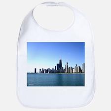 Chicago Skyline Across from Lake Michigan Bib