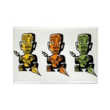 Three Tiki Gods Rectangle Magnet (10 pack)