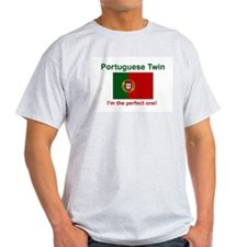 Perfect Portuguese Twin Ash Grey T-Shirt