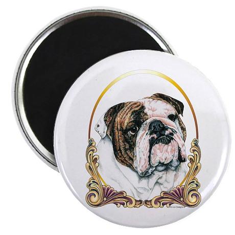 Bulldog Christmas/Holiday Magnet