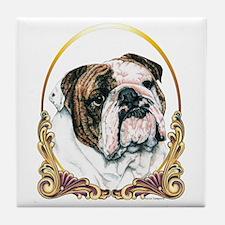 Bulldog Christmas/Holiday Tile Coaster