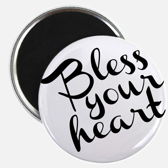 """Bless Your Heart (in black) 2.25"""" Magnet (10 pack)"""