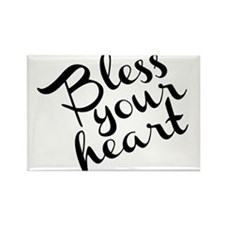 Bless Your Heart (in black) Rectangle Magnet (100
