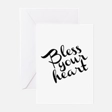 Bless Your Heart (in black) Greeting Cards (Pk of