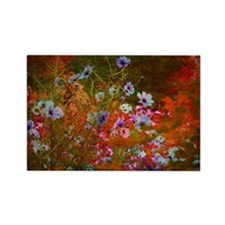 wildflowers red texture Rectangle Magnet
