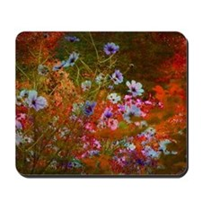 wildflowers red texture Mousepad