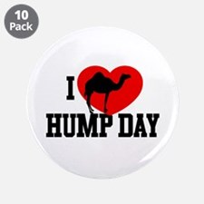 """I Heart Hump Day 3.5"""" Button (10 pack)"""