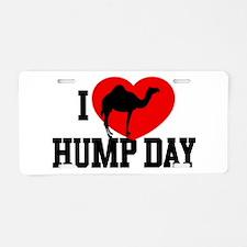 I Heart Hump Day Aluminum License Plate