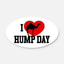 I Heart Hump Day Oval Car Magnet
