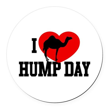 I Heart Hump Day Round Car Magnet