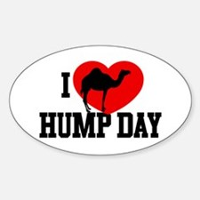 I Heart Hump Day Oval Decal