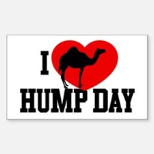I Heart Hump Day Rectangle Decal
