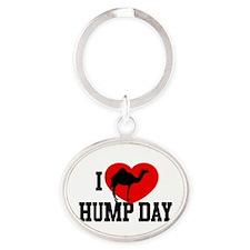 I Heart Hump Day Oval Keychain