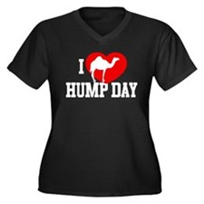 I Heart Hump Day Women's Dark Plus Size V-Neck T-S