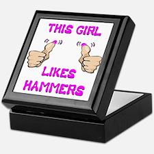 This Girl Likes Hammers Keepsake Box