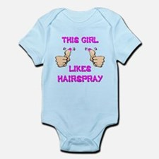 This Girl Likes Hairspray Infant Bodysuit