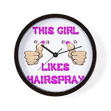 This Girl Likes Hairspray Wall Clock