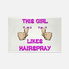 This Girl Likes Hairspray Rectangle Magnet